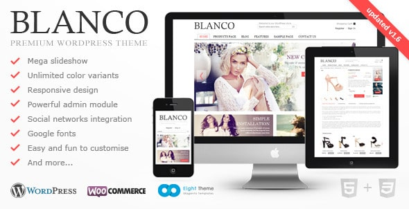 Blanco WordPress