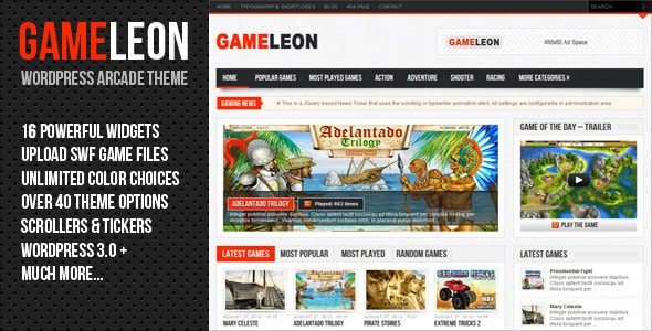 GameLeon WordPress