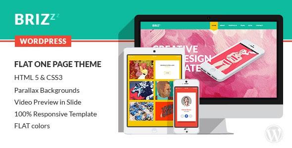 BRIZZZ - Flat One Page WordPress Theme