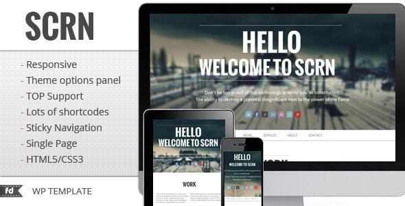 SCRN - Responsive one page / single page portfolio
