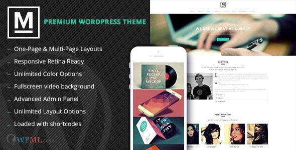Max - Retina One Page WordPress Theme
