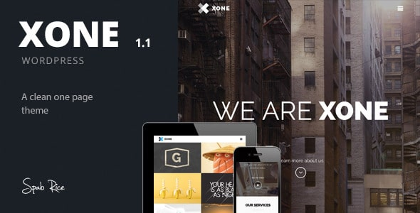 Xone - Clean One Page WordPress Theme