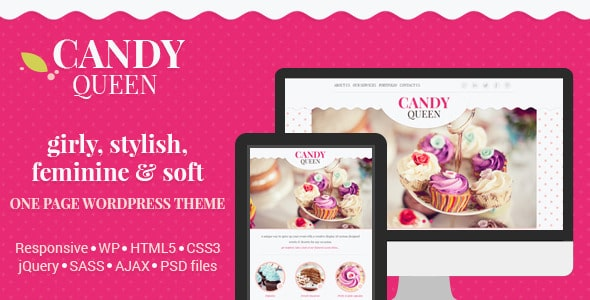 Candy Queen Tema WordPress