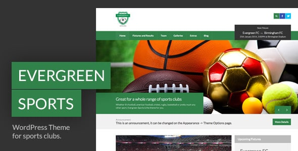 Evergreen Tema WordPress