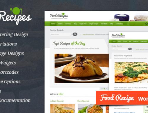 15 Temi WordPress per Ricette e Cucina