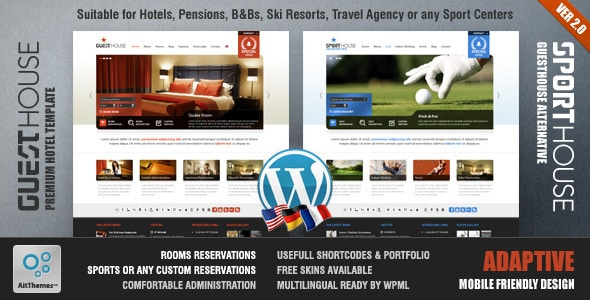 Guesthouse Tema WordPress
