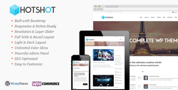 Hot Shot Tema WordPress