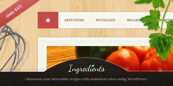 Ingredients Tema WordPress