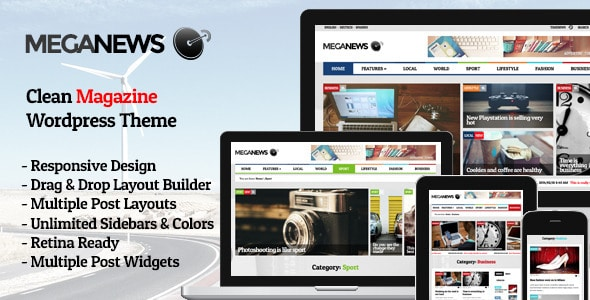 MegaNews Tema WordPress