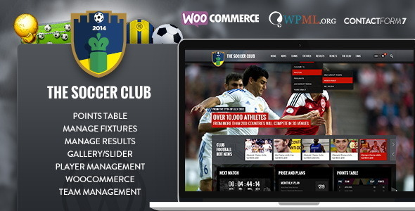 Soccer Club Tema WordPress
