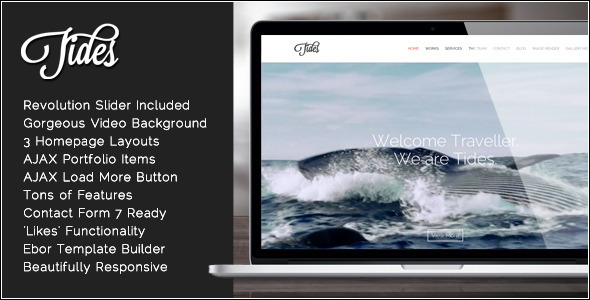 Tides Tema WordPress