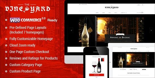 Wine Store Tema Worpress