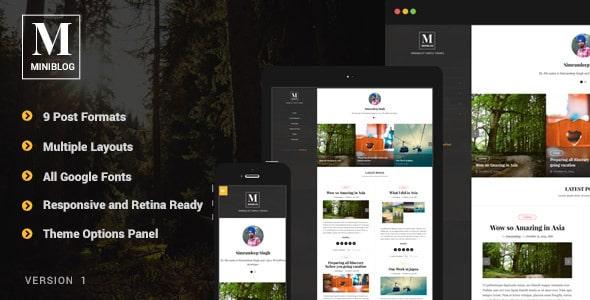 MiniBlog Tema Wordpress