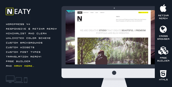 Neaty - Tema Responsive Portfolio