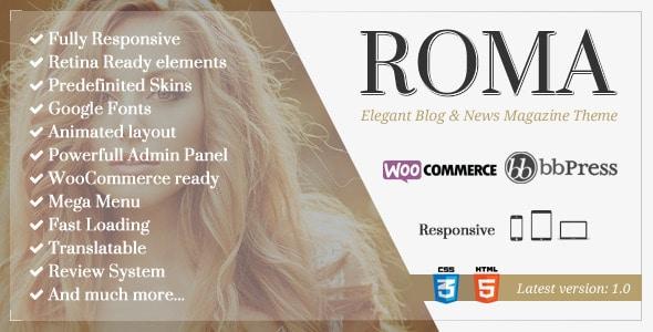 ROMA - Tema per Magazine con Woocommerce