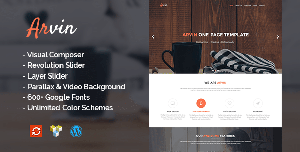 Arvin - Tema One Page