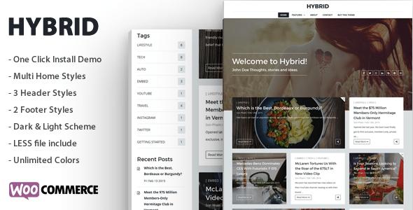Hybrid - Tema Blog Moderno
