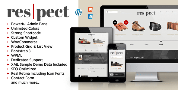Respect - Tema Blog eCommerce
