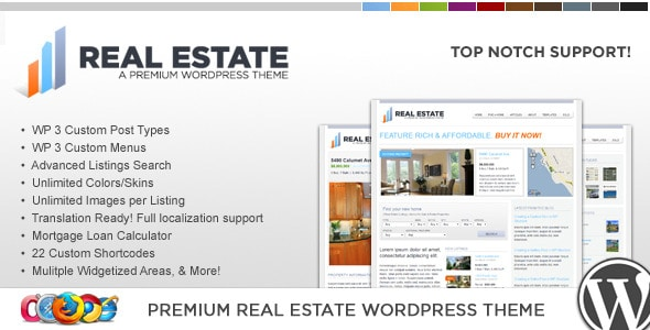 WP Pro Real Estae 2 | Tema WordPress Real Estate