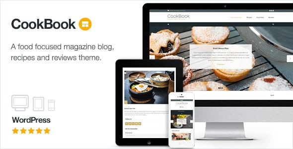 Cookbook - Tema Food Blog