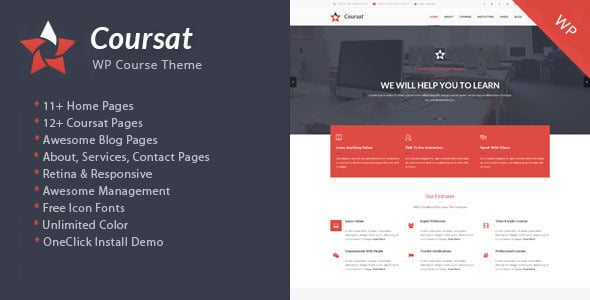 Coursat - Tema Wordpress per Corsi