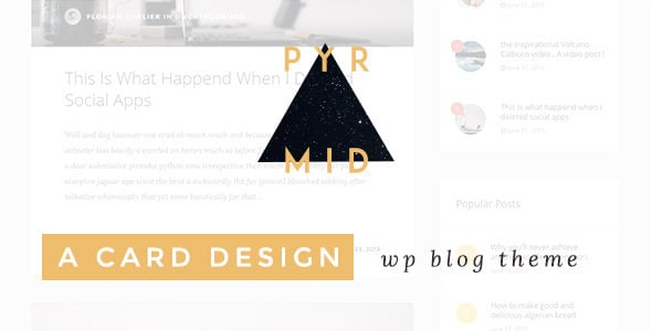 Pyramid | Template Blog