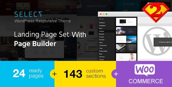 Select | Tema Landing Page