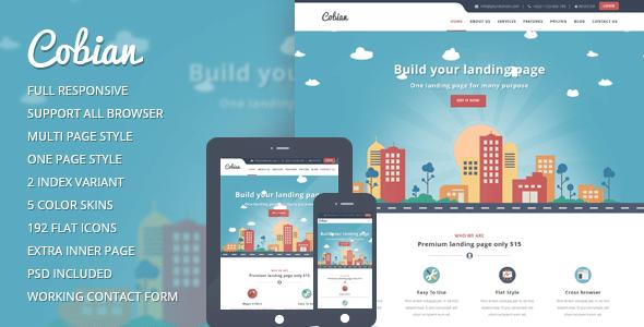 Cobian   Tema Wordpress Landing page