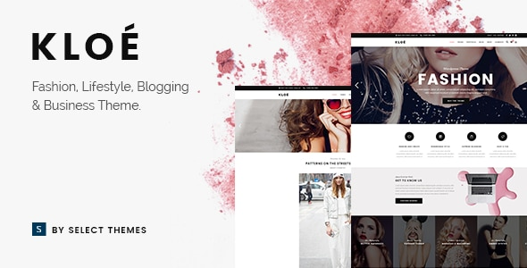Kloe Tema wordpress Fashion Blog