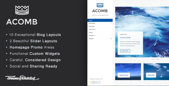 Acomb - Tema Minimal per Blog WordPress