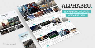 Alphabet - Tema WP Blog Design