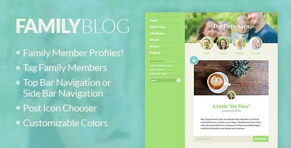Tema Wordpress Blog per Famiglia | FamilyBlog