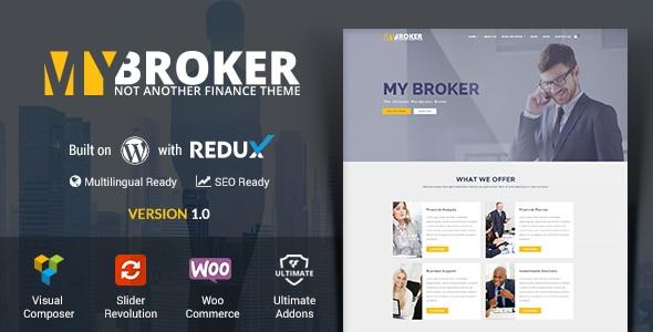 My Broker - Tema Wordpress siti Finanziari