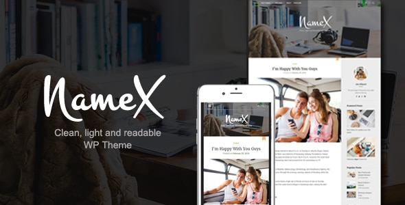 Tema wordpress Minimal - Namex